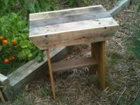I have for sale hand made wooden benches made from