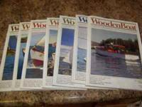 WOODEN BOAT MAGAZINE'S VOLUMES 7-13, 20, 22-25,30,