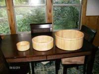 3 Piece wooden bowl set, everyday serving usage, or