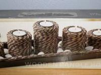 I have a brand-new in box Wooden Candle Holder Set by