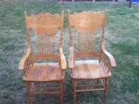 I have for sale two wooden chairs! I'm asking 20 for
