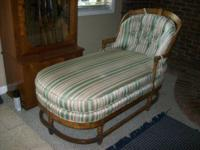 Very nice wooden (think oak) chaise lounge with