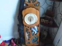 wooden chime clock with mirror, these sell for over