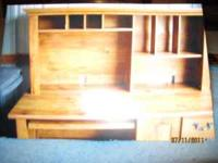 VERY STYLISH 2 PC. WOODEN COMPUTER/HUTCH DESK CALL
