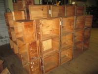 For sale are these old wooden boxes / crates dating