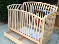 Wooden Crib with a drawer underneath $75 will need the