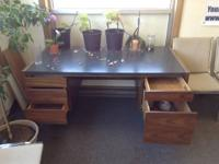 I am selling a wooden desk with an imitation stone