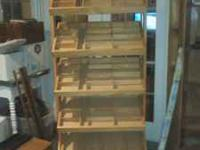 Heavy Duty Wooden Display rack, no longer have use for