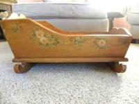 Nice wooden Doll Cradle Will fit American Girl Doll and