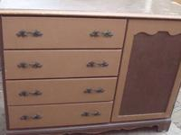 Chest of drawers with mini closet Made of solid wood