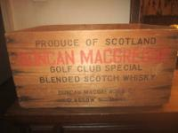 Wooden whisky (whiskey) Crate most likely from the