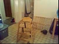 I have a wooden high chair in good condition. Call or