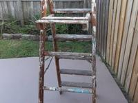 For Sale: 6' wooden, step ladder. This ladder is 6ft