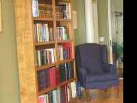 For sale: Oversize, custom made, all wooden bookcase.