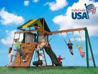 I have 2 all wood swing-set, play set displays for