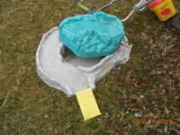 Little Tikes plastic sandbox, mountain covers sand when