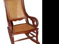 Pale yellow rocker, made of solid wood This is a good