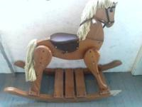 WOODEN ROCKING HORSE ... $30 ...   Location: worcester