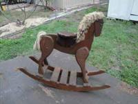 Hand-Made older riding rocking horse. very sturdy and