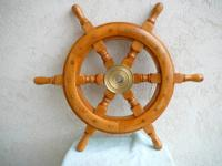 This authentic and well-made wooden Ships Wheel is 18