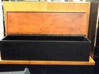 Wood storage bench. 871/2 inches long $80.00. Perfect