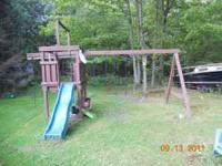 Wooden Swing Set $150.00 cash only - delivery not