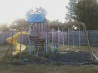 I have a wooden swing set with club house at top of