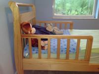 This all hardwood Toddler Bed is perfect to help any