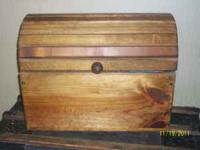 Handmade wooden trunk. Functional. Please text me at .