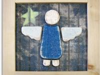 The angels are approximately 15 x 15 inches square and