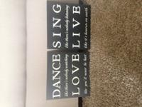 Great condition room decor. They are wooden signs that