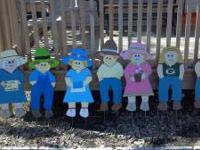 I have several wooden Yard/Garden People. I also can do