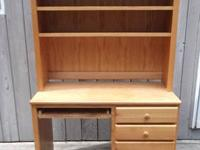 Used desk with removable hutch. The hutch just rests on