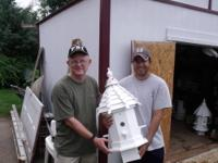 Wooden bird houses made in Raleigh NC, octagon