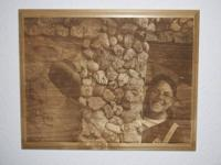 Made to Order Wooden Photo Engraved into a Red Alder