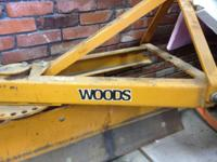 woods angle blade 3 point hitch of a Kubota tractor