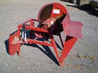 Woodsman Skid Loader Mounted Wood Saw. Shed kept from