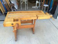 "Woodworkers Bench workbench 57"" L X 30"" W X 29 1/2"" H"