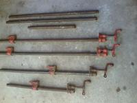 4 Vintage Hargrave brand Pipe Clamps and includes the