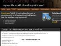 Wood Working Planner provide the place to come to learn