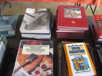 LARGE SELECTION OF WOODWORKING MAGAZINES AND BOOKS .75