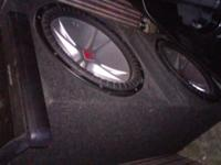 Two 15 in CVR kicker's plus 1100 watt Alpine amp in