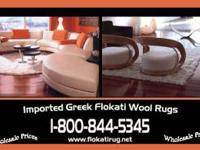 GREEK FLOKATI SHAG RUGS-100% WOOL 100% WOOL PILE AND