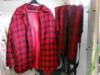 Red/Black Woolrich Coat size 44 with removable liner