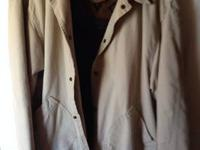 Woolrich brand men's XL barn style coat. With blanket