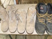 3 - Pair of Boot's 2 -Military, size 8W ,$20.00 ea, -1