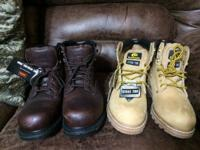 %%% I have work boots Different styles and sizes From