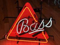 Neon Bass Ale Sign. Excellent working condition with