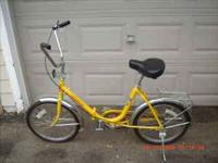 Worksman fold up bike. Excellent Condition. 300.00 or