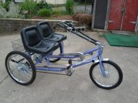 Unlike conventional tandems, the Team Dual Trike lets